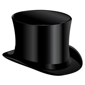 Black Cylinder Hat