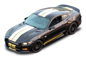 Black Ford Shelby GT H Top View Car