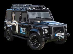 Black Land Rover Defender Car