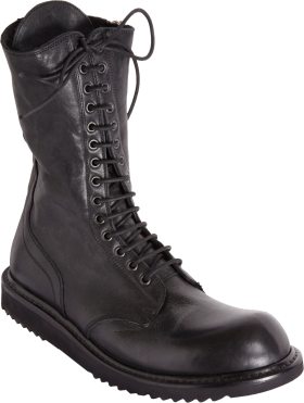 Black Leather Casual Boot