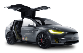 Black Model X Tesla Motors Modern Car