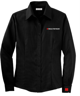 Black Multistack Dress Shirt