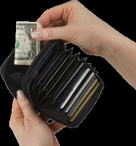 Black Open Wallet