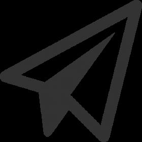Black Shape Paper Plane