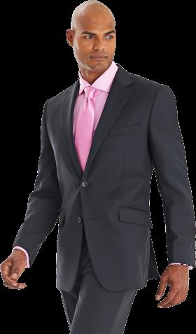 Black Suit Pink Tie