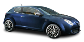 Blue Alfa Romeo Mito Car