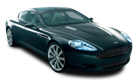 Blue Aston Martin Rapide Car