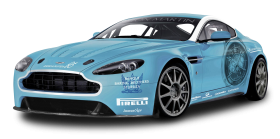 Blue Aston Martin V12 Vantage Car