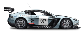 Blue Aston Martin Vantage GT3 Car