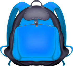 Blue Backpack Transparent