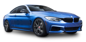 Blue BMW 4 Series Car