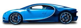 Blue Bugatti Chiron Car