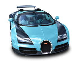 Blue Bugatti Veyron 16.4 Grand Sport Vitesse Car