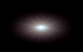 Blue Center Lens Flare