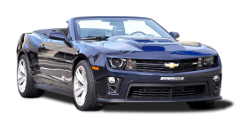 Blue Chevrolet Camaro ZL1 Convertible Car