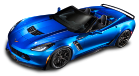 Blue Chevrolet Corvette Z06 Top View Car