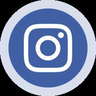 Blue Circled Instagram Logo