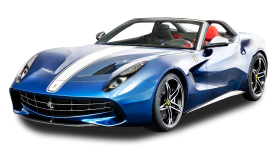 Blue Ferrari F60 America Car
