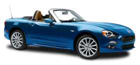 Blue Fiat 124 Spider Car