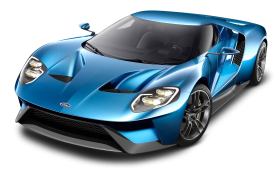 Blue Ford GT Car