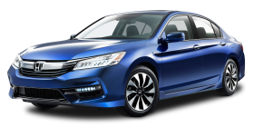 Blue Honda Accord Hybrid Car