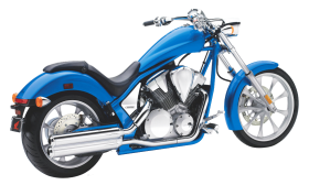 Blue Honda Fury