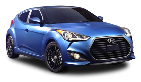 Blue Hyundai Veloster Rally Car