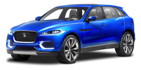 Blue Jaguar C X17 Sports Crossover Car