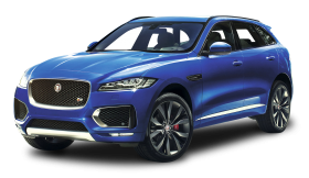 Blue Jaguar F PACE Car