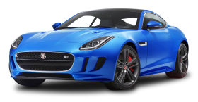 Blue Jaguar F TYPE Luxury Sports Car