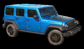 Blue Jeep Wrangler Car