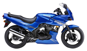 Blue Kawasaki Ninja 500R