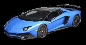 Blue Lamborghini Aventador Car