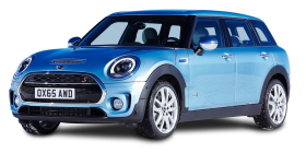 Blue Mini Clubman All4 AWD Car