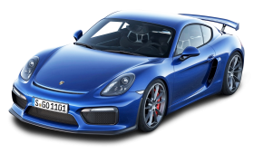 Blue Porsche Cayman GT4 Car