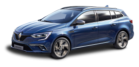 Blue Renault Megane Sport Tourer Car