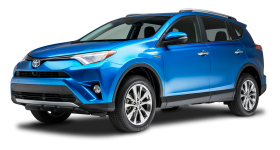Blue Toyota RAV4 Hybrid Car