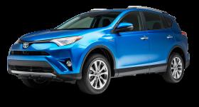 Blue Toyota RAV4 Hybrid Car