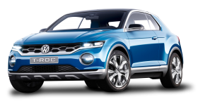 Blue Volkswagen T Roc Car