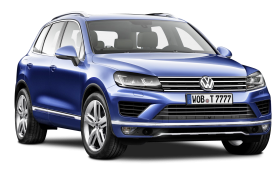 Blue Volkswagen Touareg Car