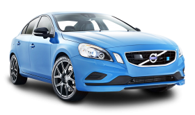 Blue Volvo S60 Polestar Car