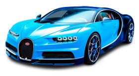 Bugatti Chiron Blue Car