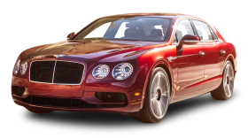 Cherry Red Bentley Flying Spur V8 S Car