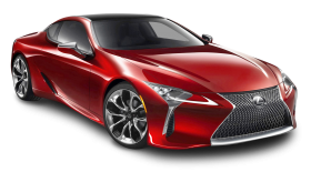 Cherry Red Lexus LC 500h Car