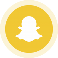 Circled Snapchat Logo