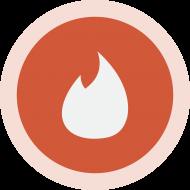 Circled Tinder Logo