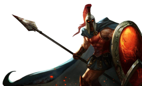 Classic Pantheon Splashart LoL