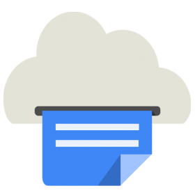 Cloud Print Icon Android Kitkat