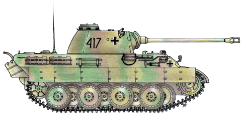 Colorful drawn Tank