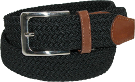 Ctm Mens Elastic Silver Buckle  Belt